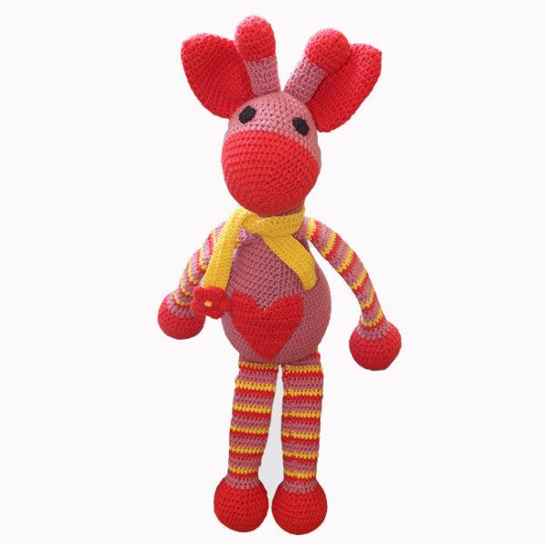 žirafa, rumeno rdeča
