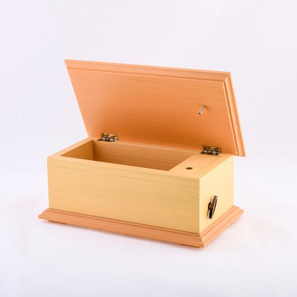 Lesena glasbena skrinjica, oranžna