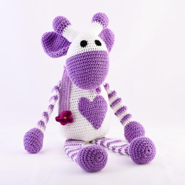 Kvačkana žirafa, vijolično, bela