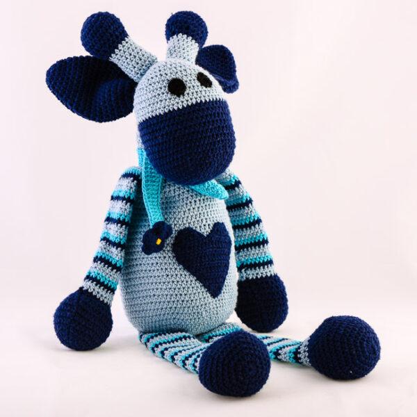 Kvačkana žirafa, modra
