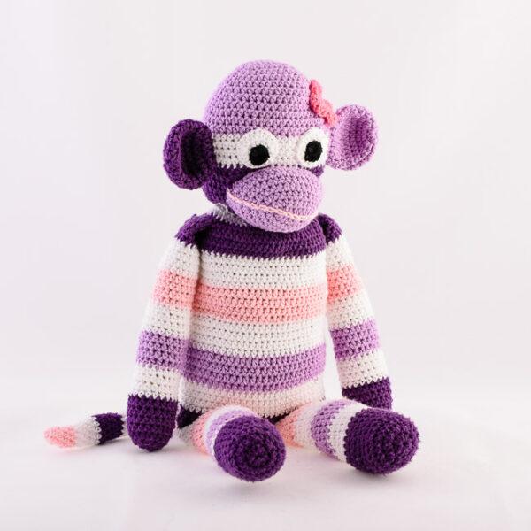 Kvačkana opica, vijolično roza