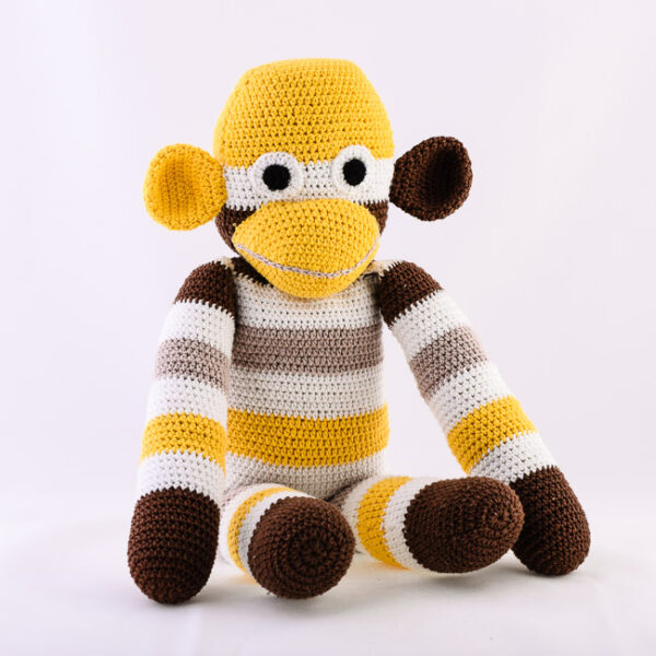 Kvačkana opica, rumeno, rjavo, bež, bela