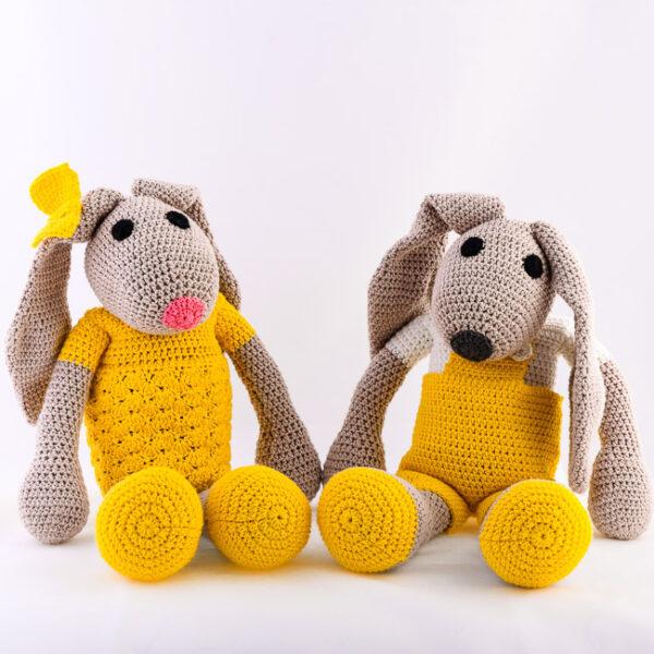 Kvačkan zajček in zajčica, rumena