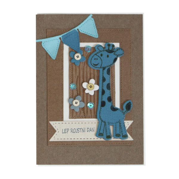Voščilnica Lep RD modra žirafa
