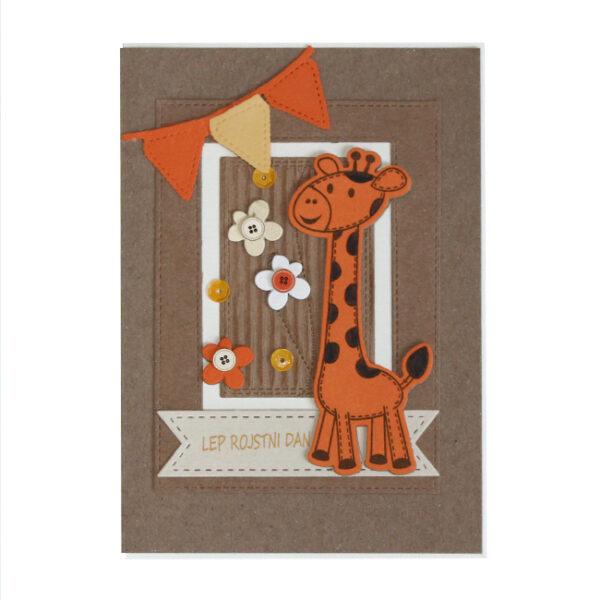 Voščilnica Lep RD oranžna žirafa