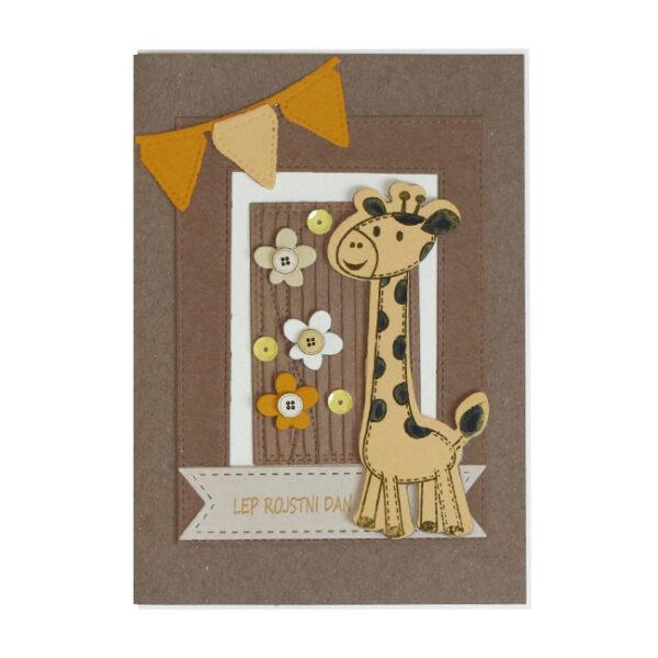 Voščilnica Lep RD rumena žirafa