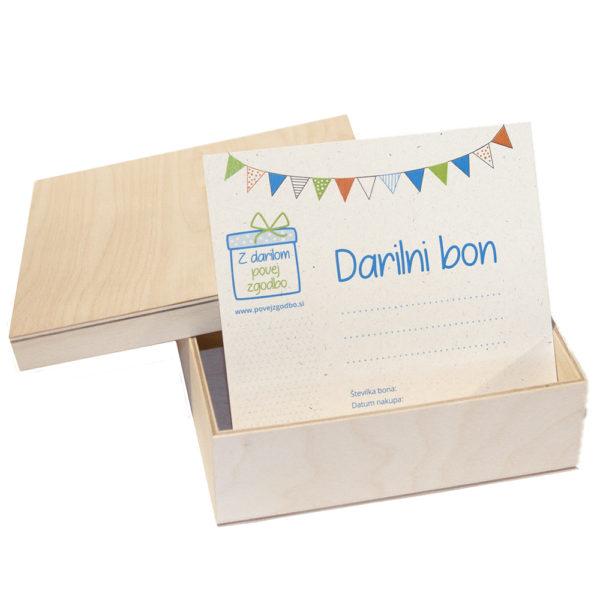 Darilni bon in škatlica