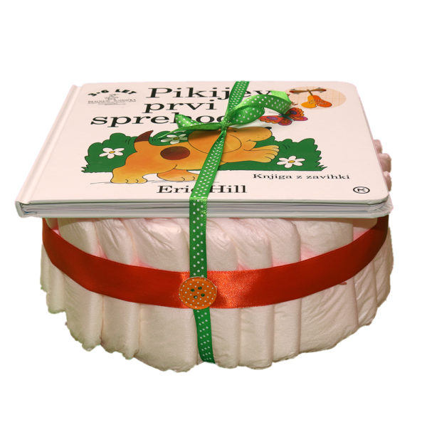Plenična torta s knjigo Pikijev prvi sprehod
