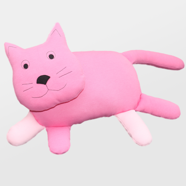 Tekstilna igrača roza mačkon