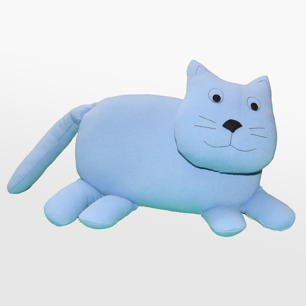 Tekstilna igrača modri maček