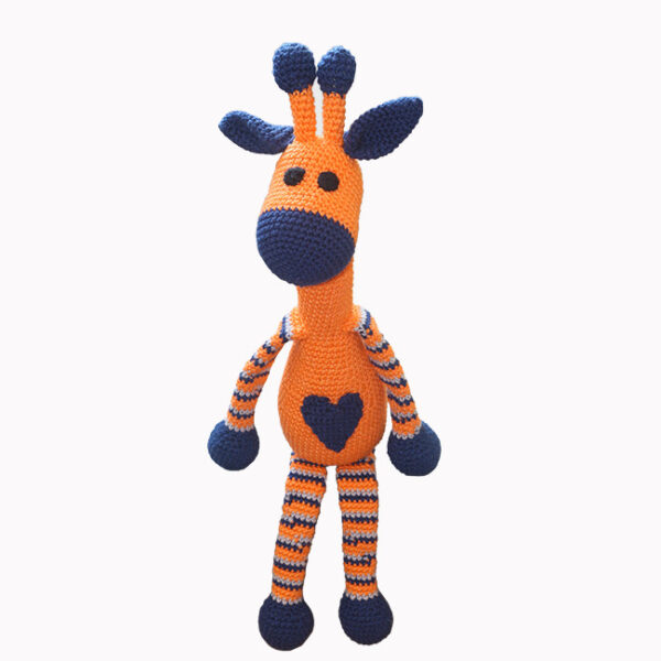 žirafa, modro oranžna