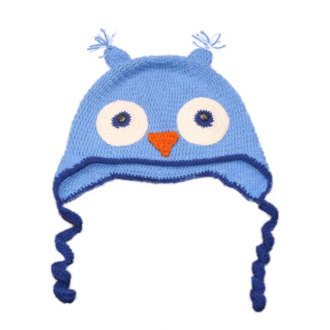 Kvačkana kapa sova, modra