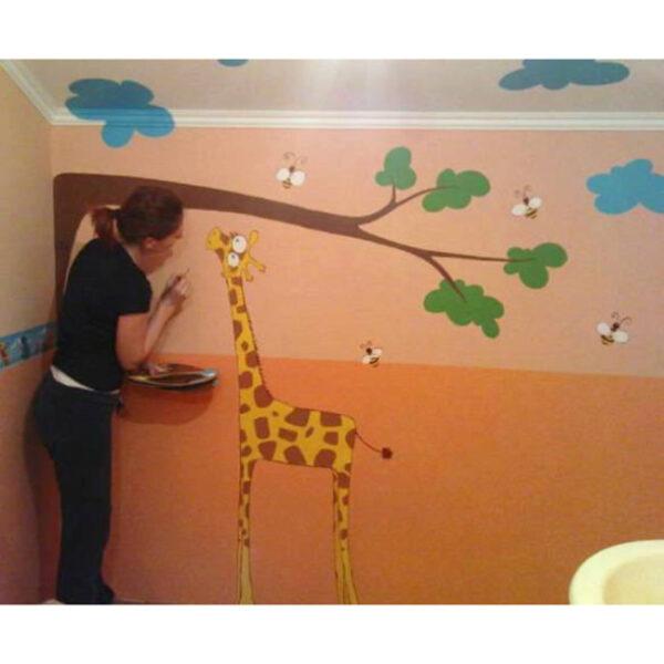 Poslikava sten, žirafa