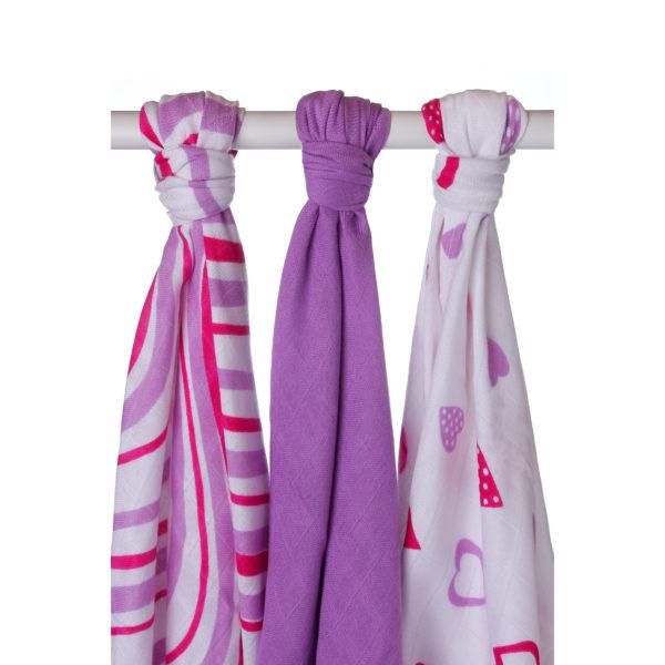 Potiskane tekstilne plenice, valovi lila