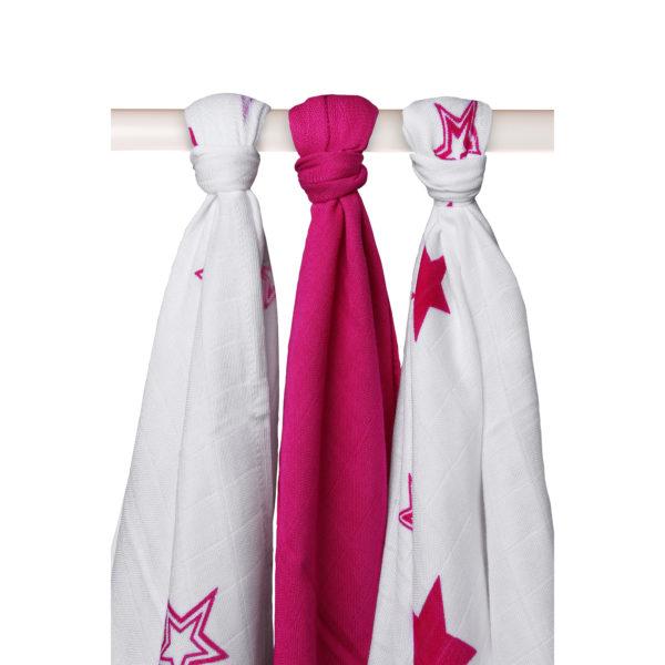 Potiskane tekstilne plenice, zvezda ciklam