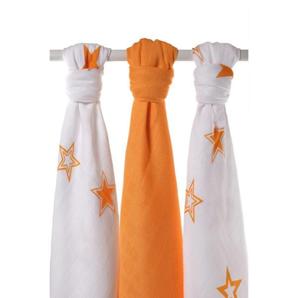 Potiskane tekstilne plenice, zvezda oranžna