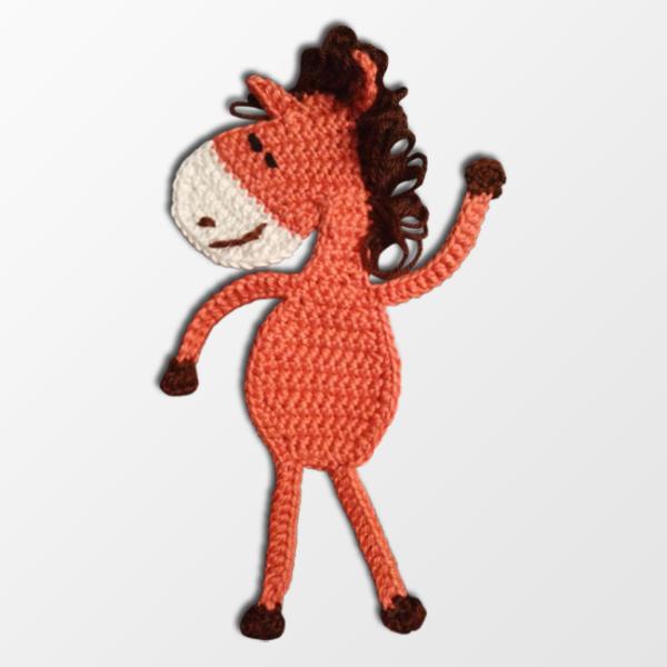konj, oranžen