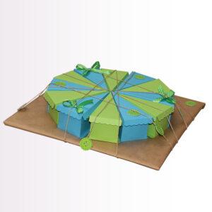 papirnate tortice modro zelena