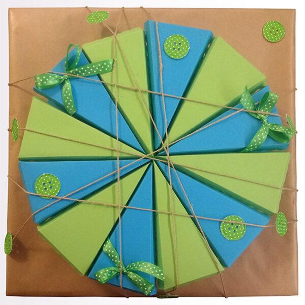 papirnate tortice zeleno modra